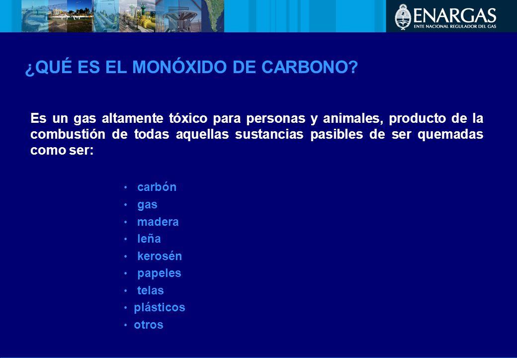 ¿QUÉ ES EL MONÓXIDO DE CARBONO? Es un gas altamente tóxico para personas y animales, producto de la combustión de todas aquellas sustancias pasibles d
