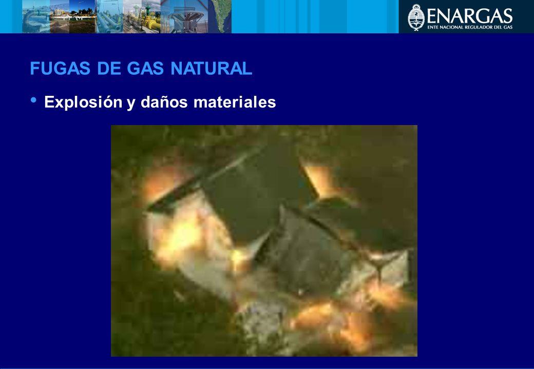 Explosión y daños materiales FUGAS DE GAS NATURAL