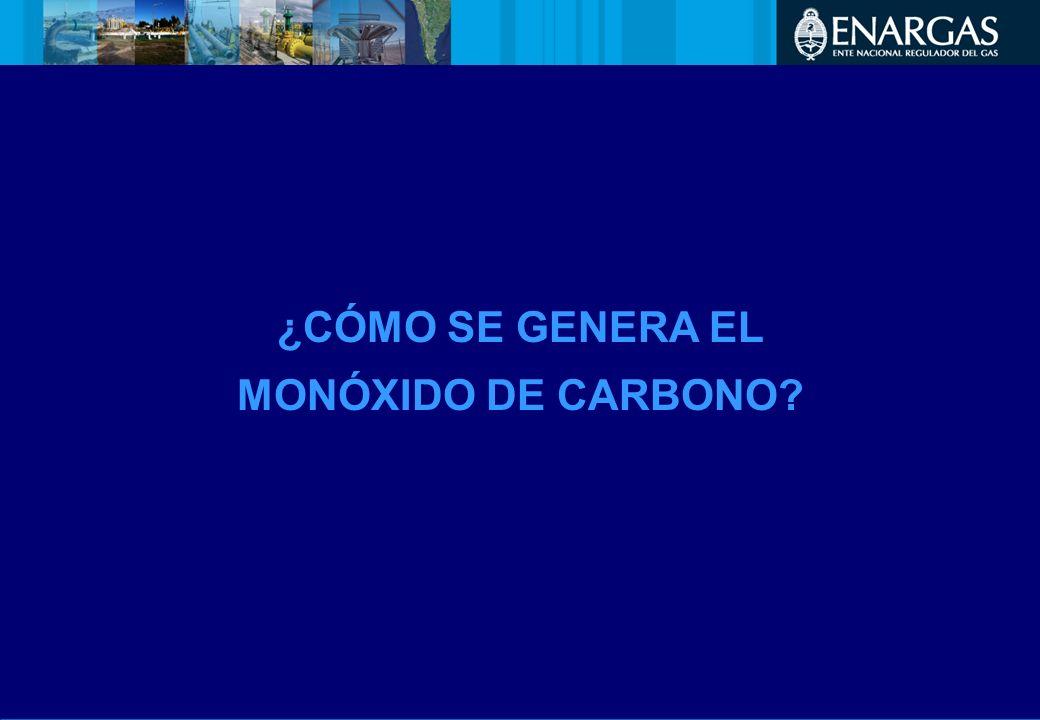 ¿CÓMO SE GENERA EL MONÓXIDO DE CARBONO?