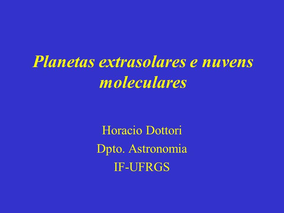 Planetas extrasolares e nuvens moleculares Horacio Dottori Dpto. Astronomia IF-UFRGS