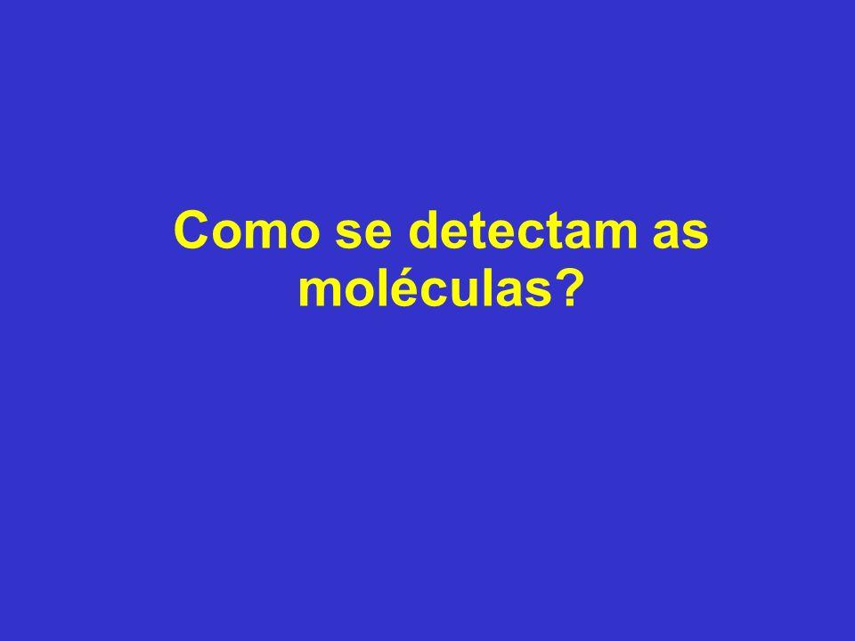 Como se detectam as moléculas?