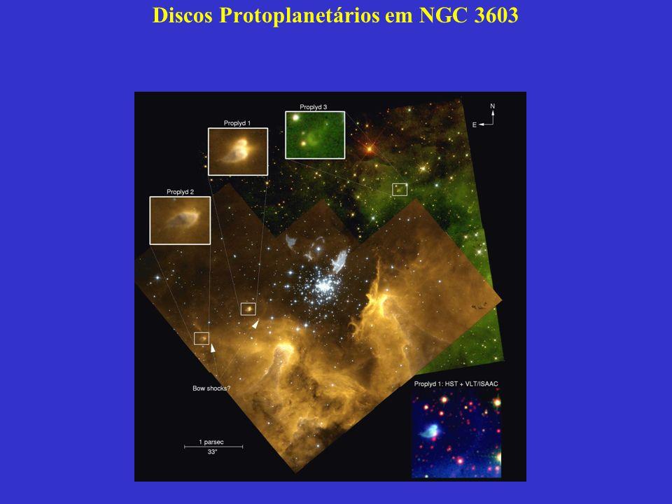 Discos Protoplanetários em NGC 3603 (Brandner, Grebel, Chu, Dottori, Brandl, Richling, York, Points y Zinnecker AJ,2000)