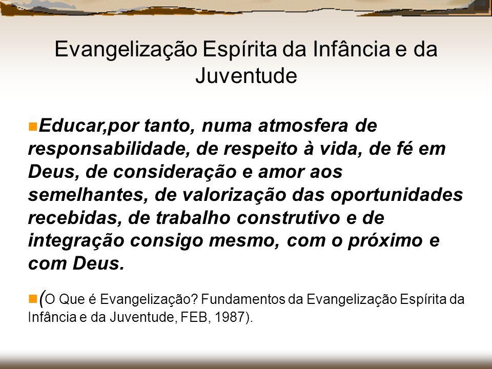 Educar,por tanto, numa atmosfera de responsabilidade, de respeito à vida, de fé em Deus, de consideração e amor aos semelhantes, de valorização das op