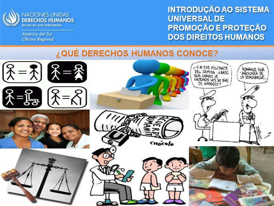 MECANISMO MECANISMO CONVENCIONAL EXTRACONVENCIONAL Tratados internacionales ASAMBLEA GENERAL Consejo de Derechos Humanos Órganos de tratados Procedimientos Especiales Examen Periódico Universal ADOPTACREA INTRODUÇÃO AO SISTEMA UNIVERSAL DE PROMOÇÃO E PROTEÇÃO DOS DIREITOS HUMANOS MECANISMOS DE DDHH