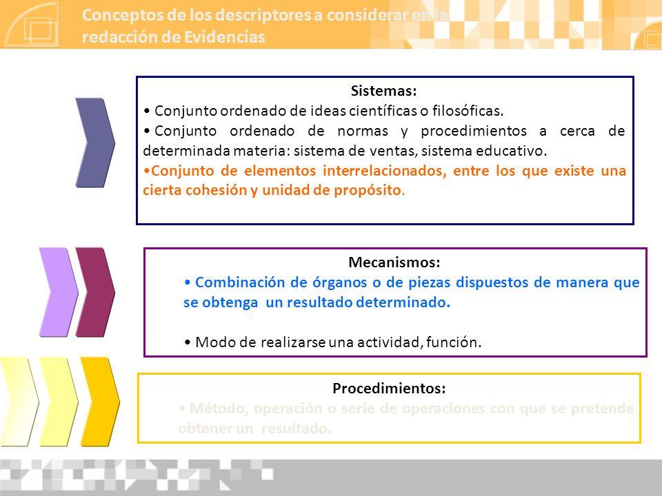 Sistemas: Conjunto ordenado de ideas científicas o filosóficas. Conjunto ordenado de normas y procedimientos a cerca de determinada materia: sistema d