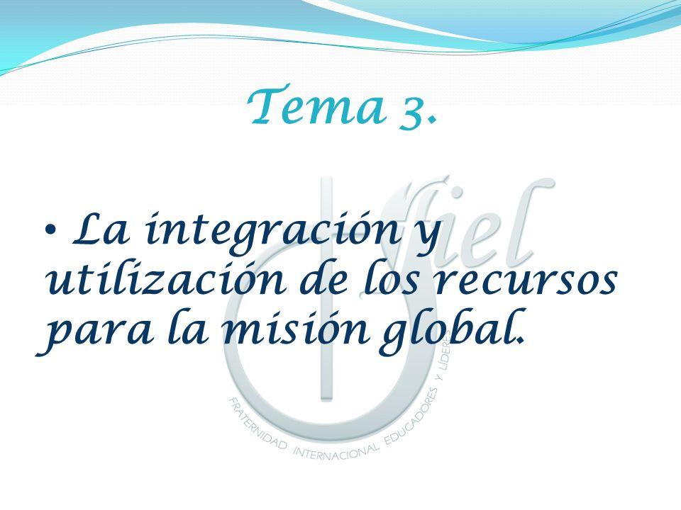 Tema 3. La integración y utilización de los recursos para la misión global.