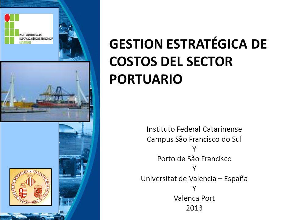 Presentación General de los Responsables del Curso Instituto Federal Catarinense – Campus São Francisco do Sul Universidad de Valencia Porto de São Francisco do Sul y Valencia Port