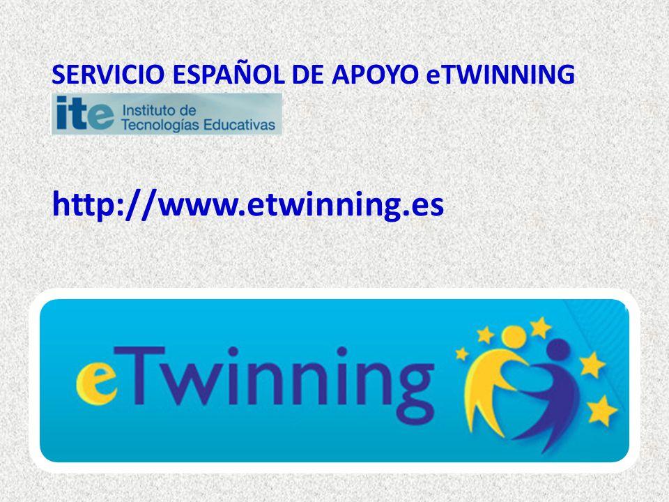 SERVICIO ESPAÑOL DE APOYO eTWINNING http://www.etwinning.es