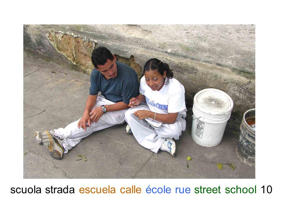 scuola strada escuela calle école rue street school 10