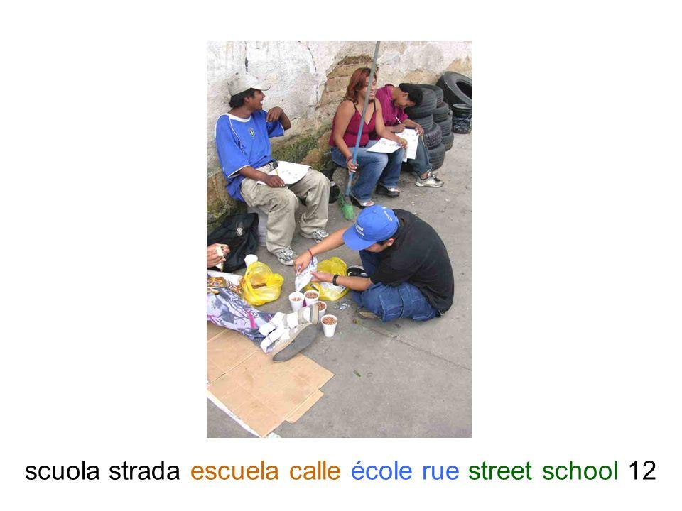 scuola strada escuela calle école rue street school 12