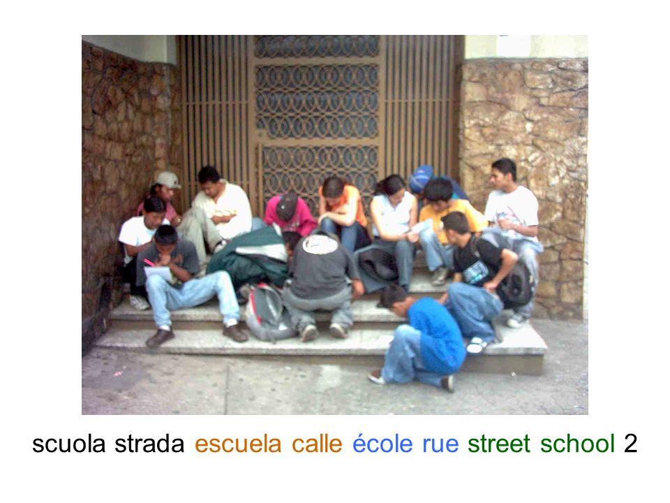 scuola strada escuela calle école rue street school 2