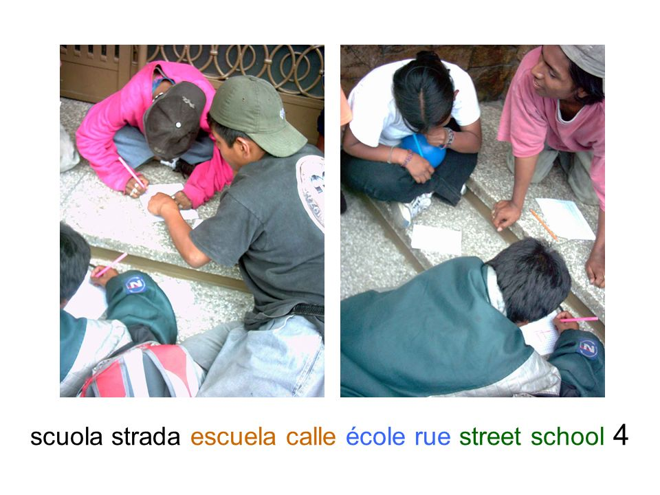 scuola strada escuela calle école rue street school 4