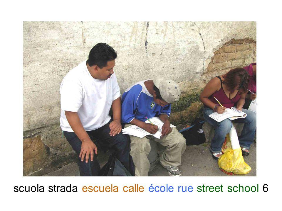 scuola strada escuela calle école rue street school 7