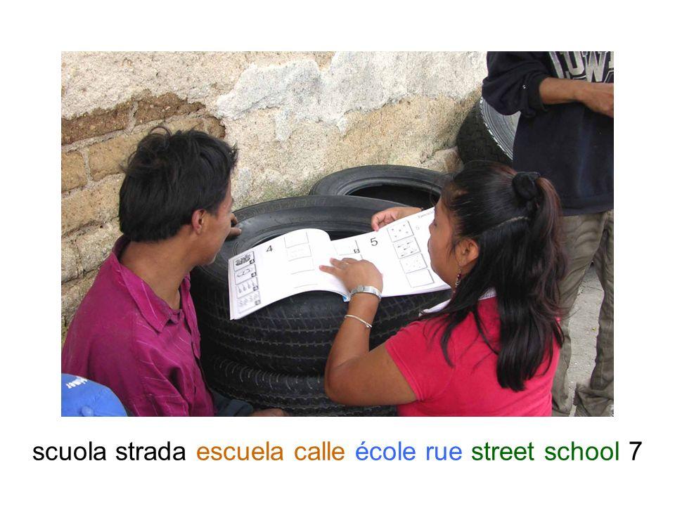 scuola strada escuela calle école rue street school 8
