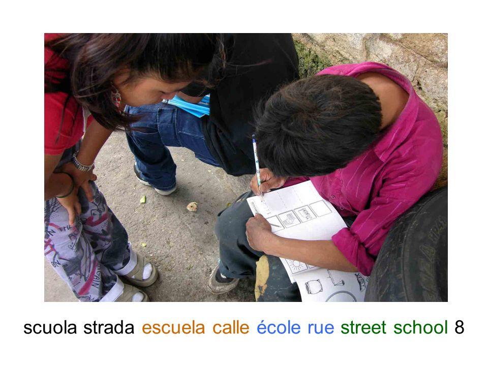 scuola strada escuela calle école rue street school 9