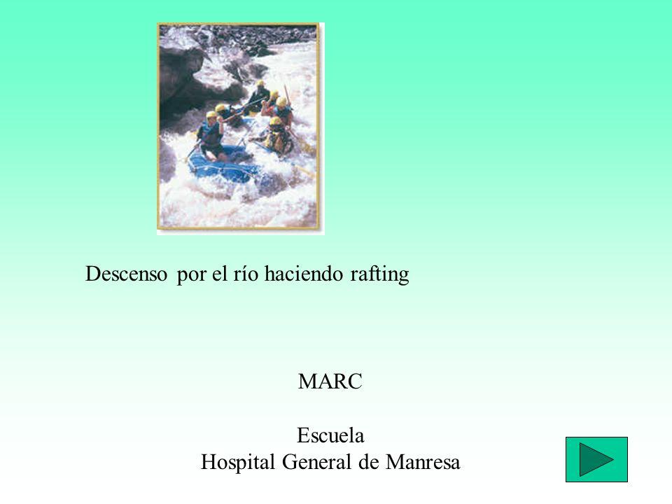 Descenso por el río haciendo rafting MARC Escuela Hospital General de Manresa