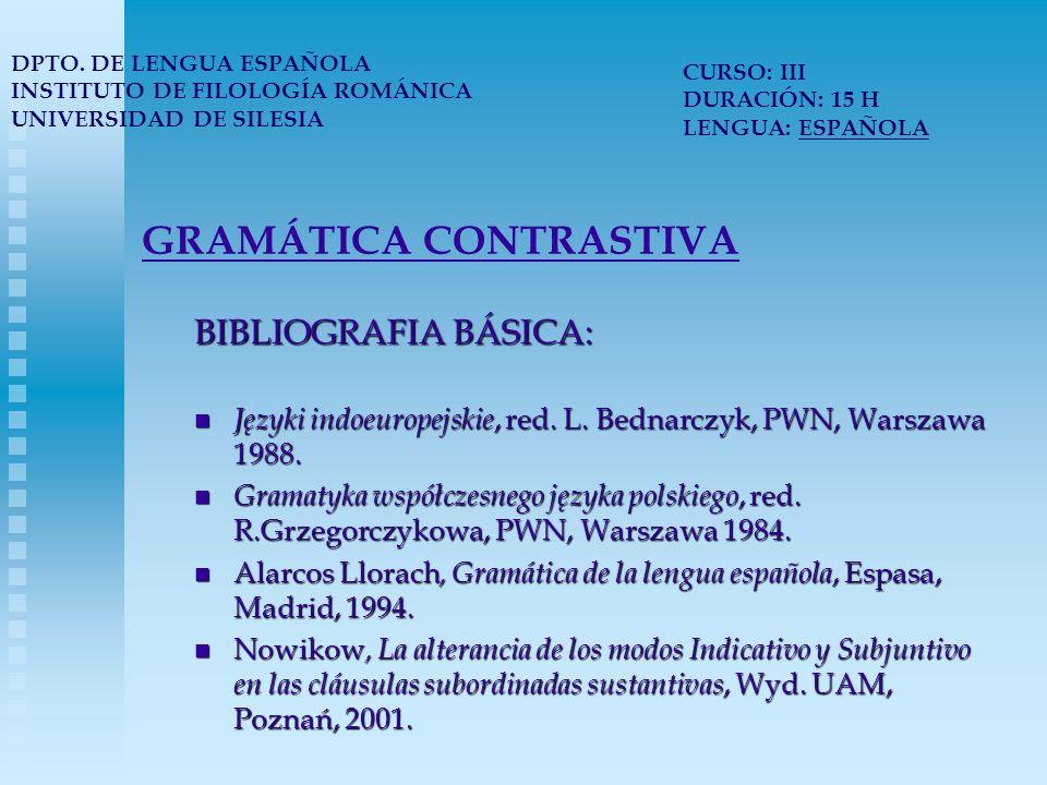 GRAMÁTICA CONTRASTIVA Wilk-Racięska, J., El artículo y la genericidad a la castellana, Wyd.