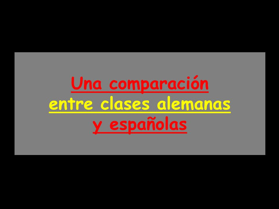 Una comparación entre clases alemanas y españolas
