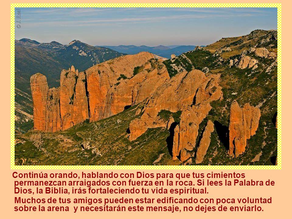 Continúa orando, hablando con Dios para que tus cimientos permanezcan arraigados con fuerza en la roca.