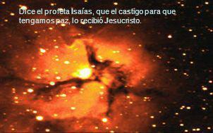 Dice el profeta Isaías, que el castigo para que tengamos paz, lo recibió Jesucristo.