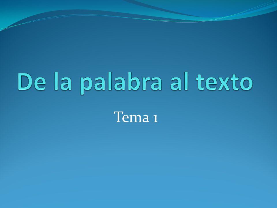 Composición de textos Palabras Oraciones Textos D.