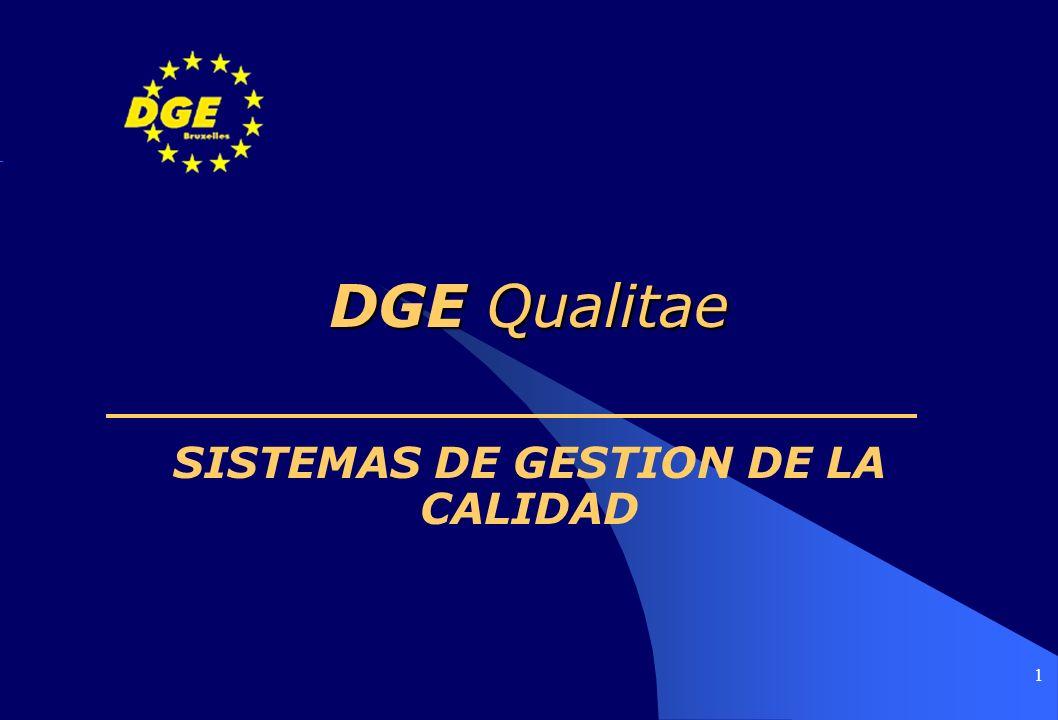 1 DGE Qualitae SISTEMAS DE GESTION DE LA CALIDAD