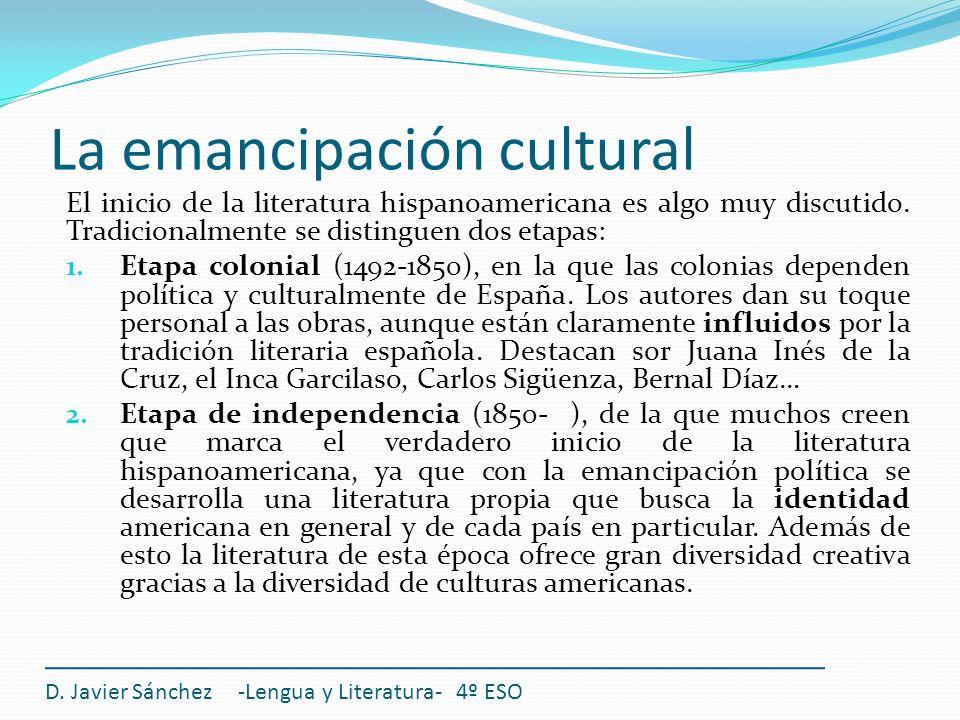 El inicio de la literatura hispanoamericana es algo muy discutido. Tradicionalmente se distinguen dos etapas: 1. Etapa colonial (1492-1850), en la que