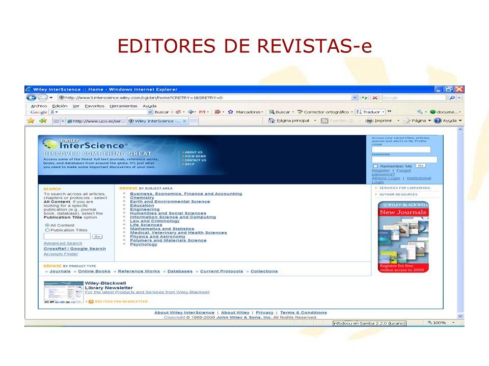 EDITORES DE REVISTAS-e