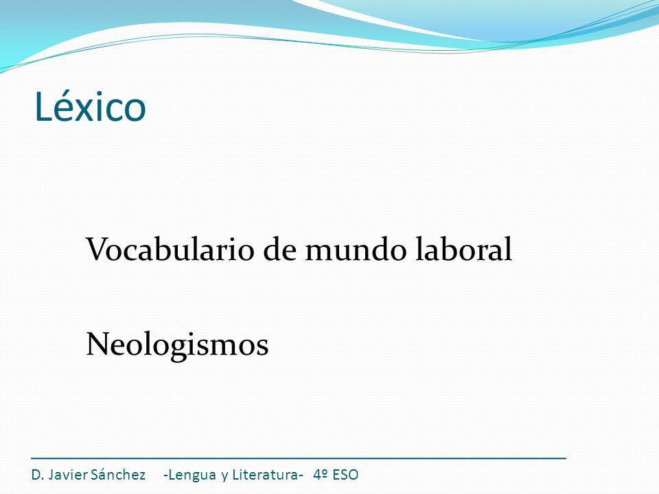 La composición de textos Características generales: Es un texto de carácter formal que da a conocer los datos profesionales de la persona que opta a un puesto de trabajo.