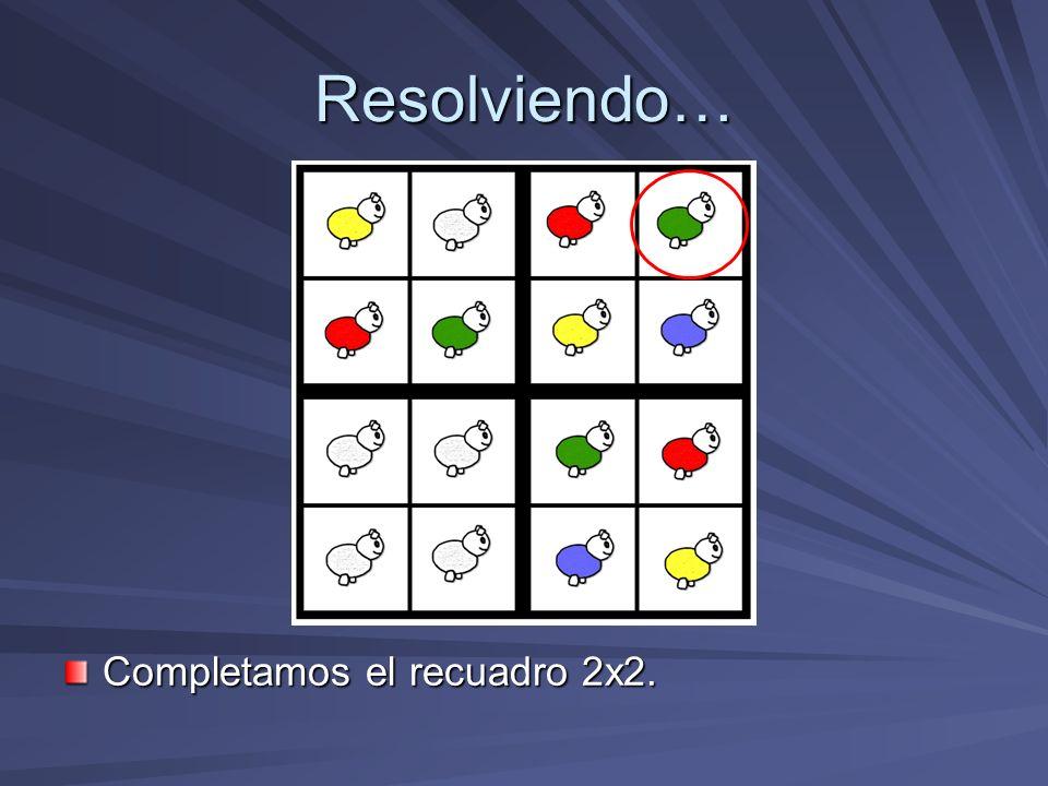 Resolviendo… Completamos el recuadro 2x2.