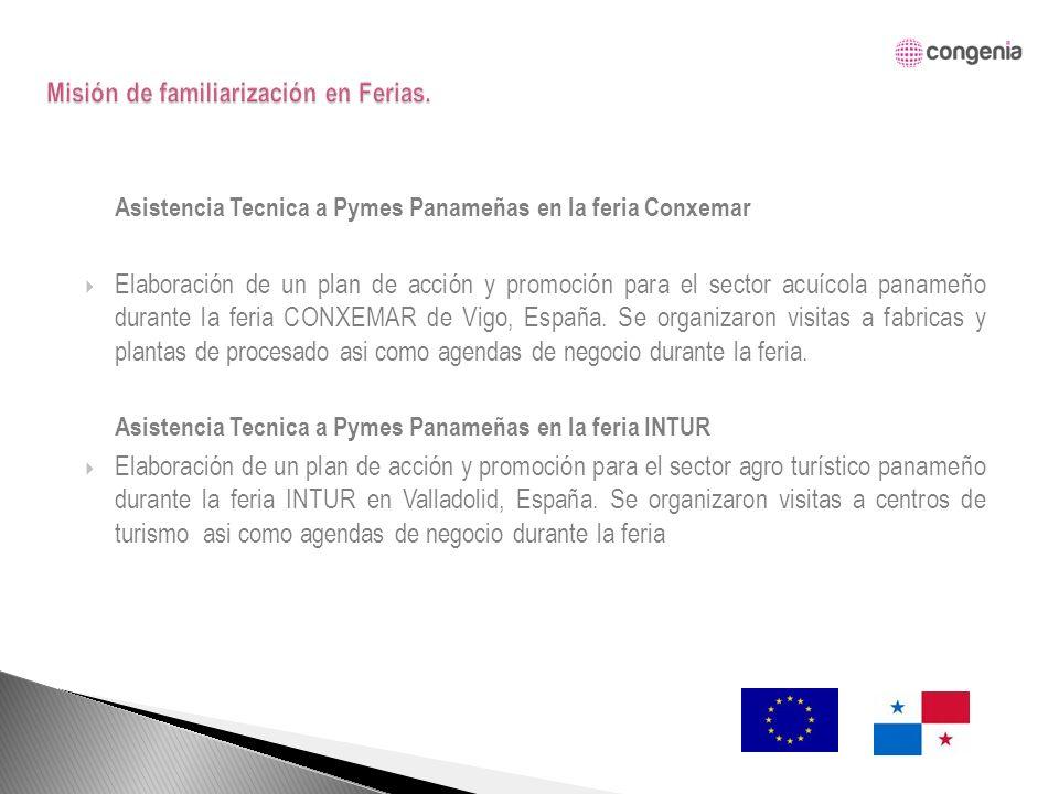 Asistencia Tecnica a Pymes Panameñas en la feria Conxemar Elaboración de un plan de acción y promoción para el sector acuícola panameño durante la feria CONXEMAR de Vigo, España.