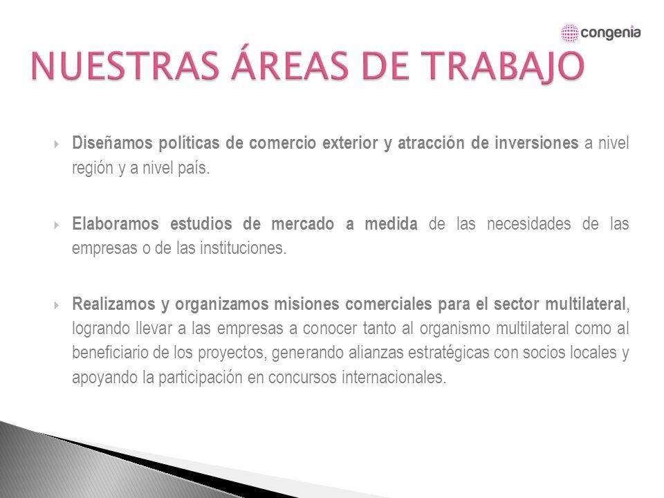 El objetivo general del contrato es el de apoyar el crecimiento de la economía de Guatemala a través del fortalecimiento del comercio exterior; para ello se diseñará e implementará un Sistema Unificado de información y una Unidad de Inteligencia de Mercados que permita una recopilación sistemática, planificación, análisis y archivo de la información