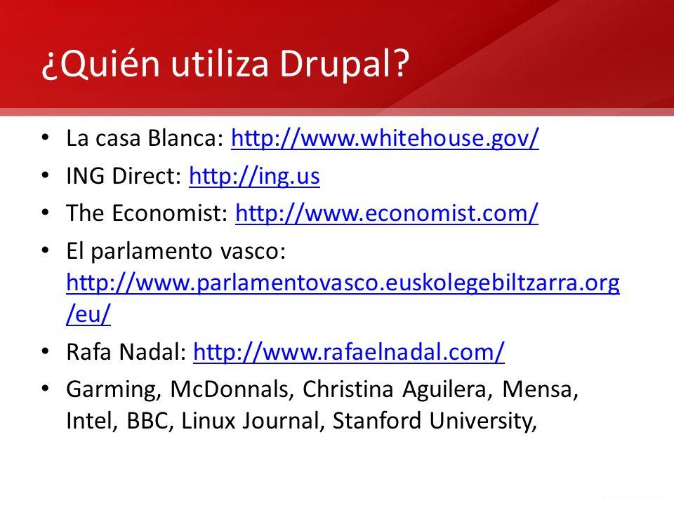 Algunos puntos débiles de Drupal… La interfaz de administración de Drupal resulta compleja y poco manejable.