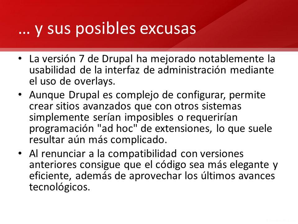 Las versiones de Drupal En todo momento están disponibles tres versiones de Drupal que son las únicas para las que se ofrecen actualizaciones de seguridad.