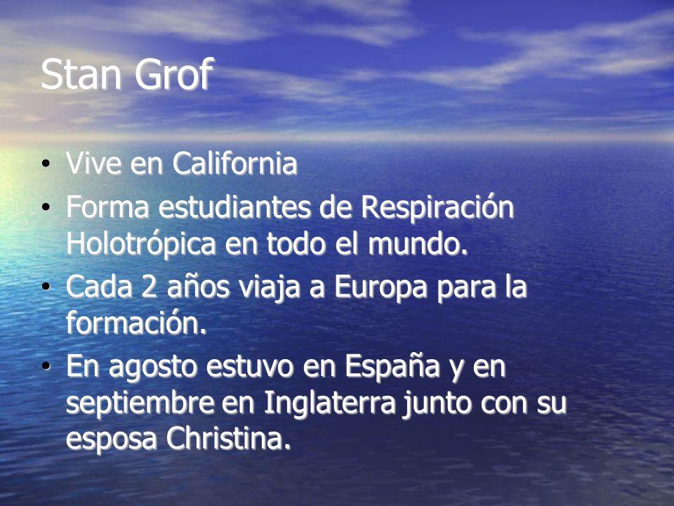 Stan Grof Vive en California Vive en California Forma estudiantes de Respiración Holotrópica en todo el mundo. Forma estudiantes de Respiración Holotr
