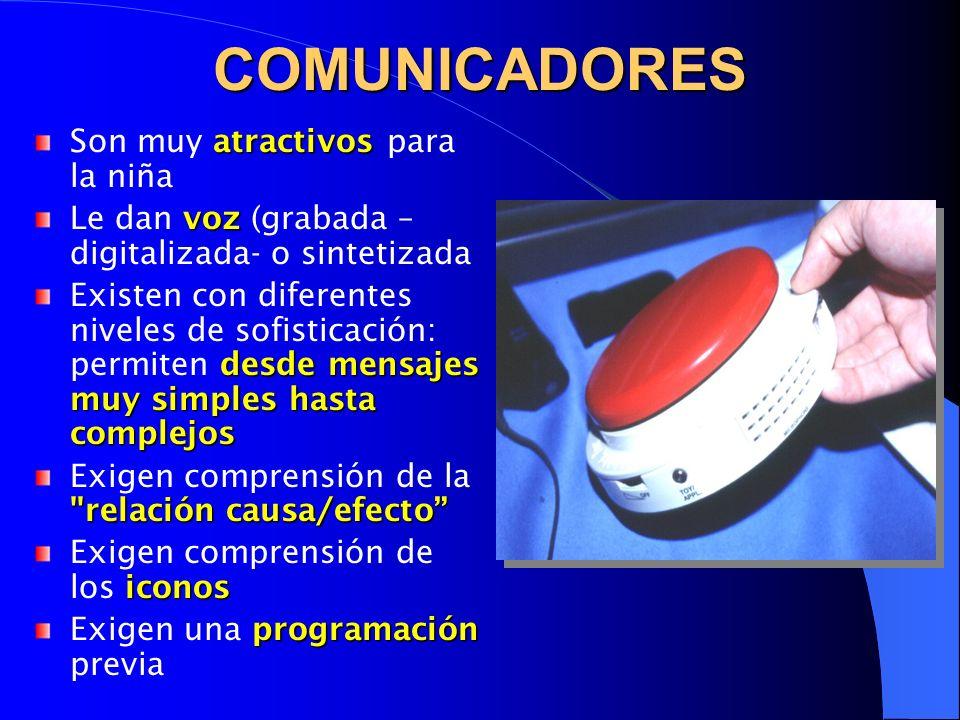 BASES DE DATOS http://www.seg- social.es/imserso/discapacidad/docs/i_discea.html Ayudas Técnicas/Software Educativo/Accesibilidad http://roble.pntic.mec.es/~fsoto/software.htm Ajuts Tècnics a la Comunicació http://www.xtec.es/ed_esp/saac/index.htm Base de datos AYTECA Base de datos AYTECA http://acceso3.uv.es/ayteca.html http://acceso3.uv.es/ayteca.html Assistive Technology Assistive Technology http://www.assistivetech.com/ http://www.assistivetech.com/ Communication Devices, Inc.