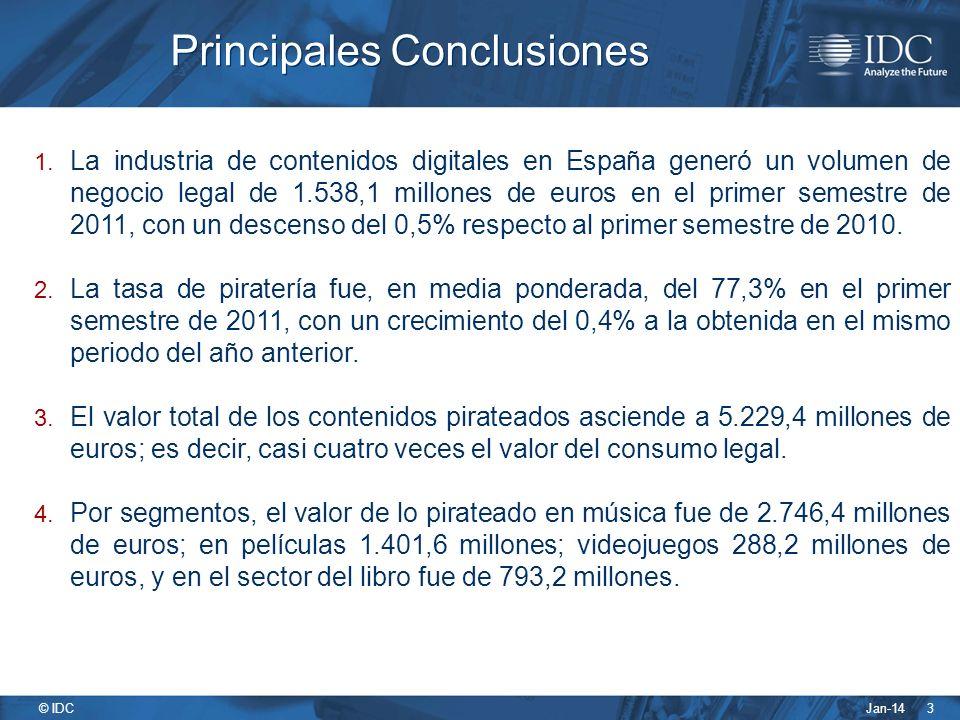 Jan-14 © IDC 3 Principales Conclusiones 1.