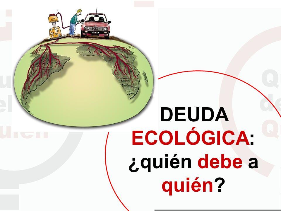 DEUDA ECOLÓGICA: ¿quién debe a quién?