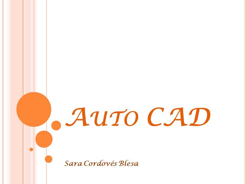 A UTO CAD Sara Cordovés Blesa