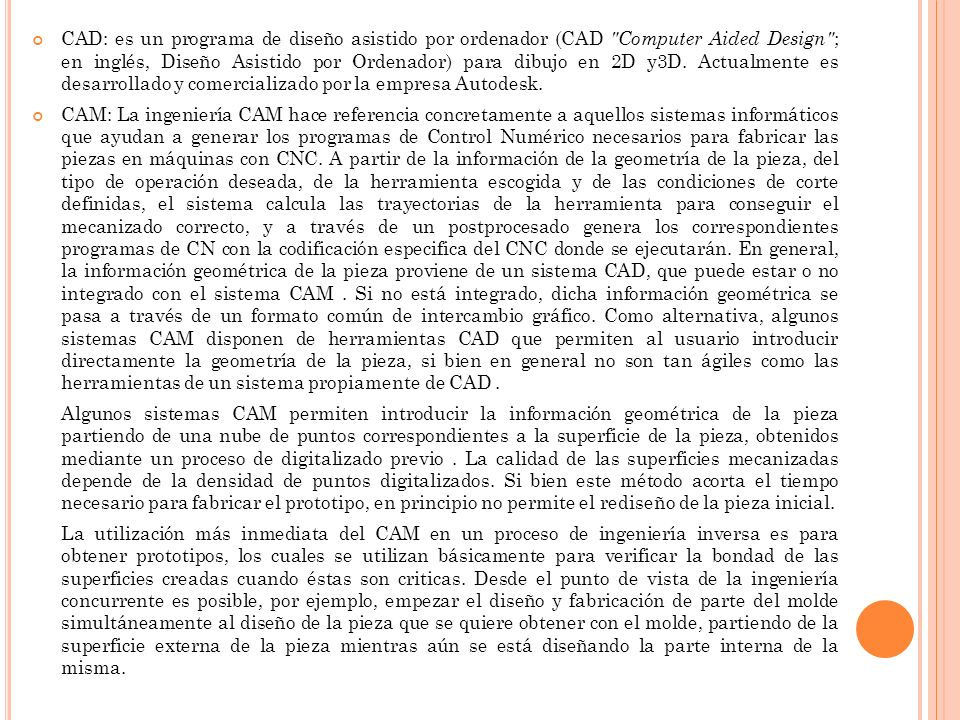 D IFERENCIAS ENTRE CAD/CAM/CAE