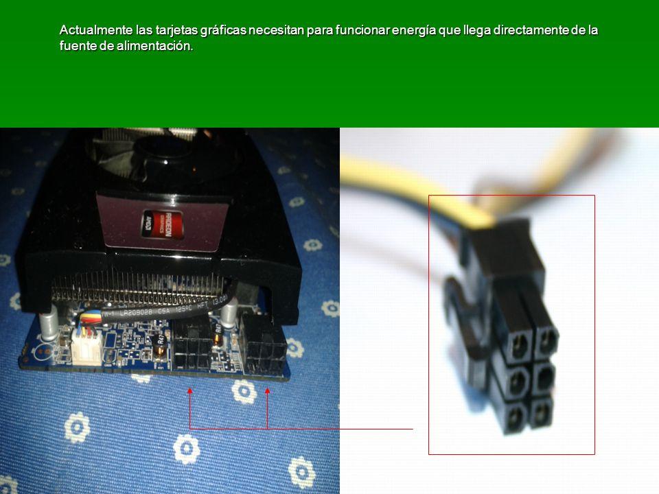 Actualmente las tarjetas gráficas necesitan para funcionar energía que llega directamente de la fuente de alimentación.