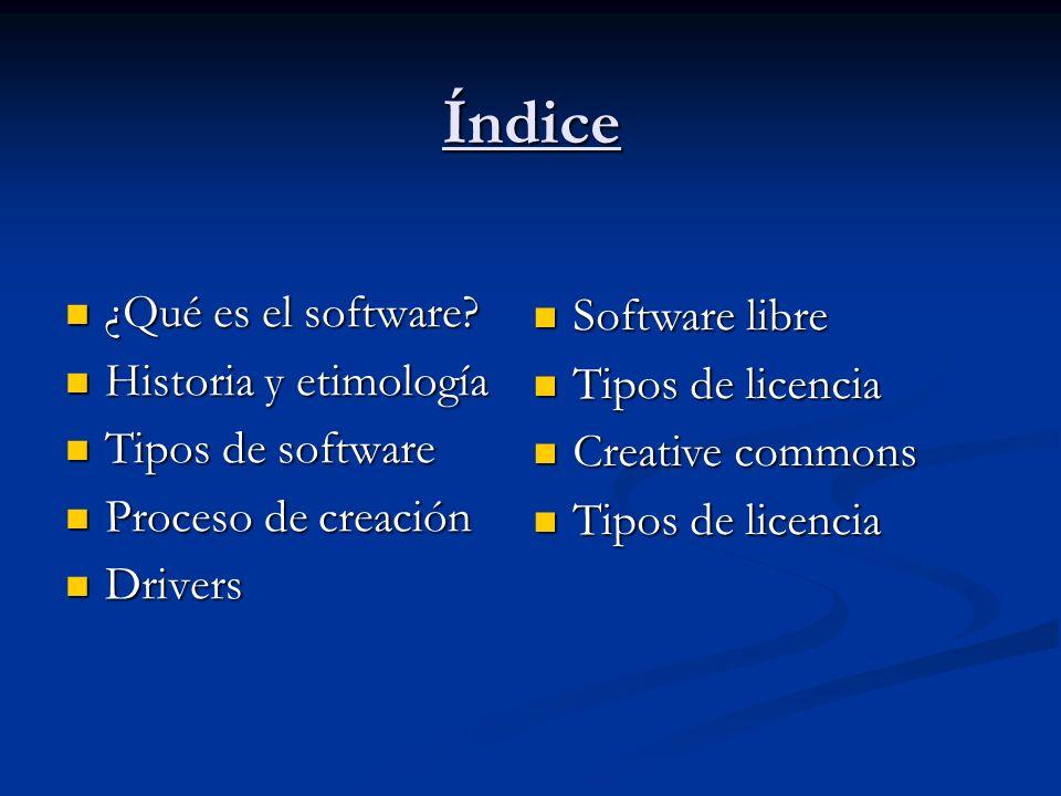 ¿Qué es el software.