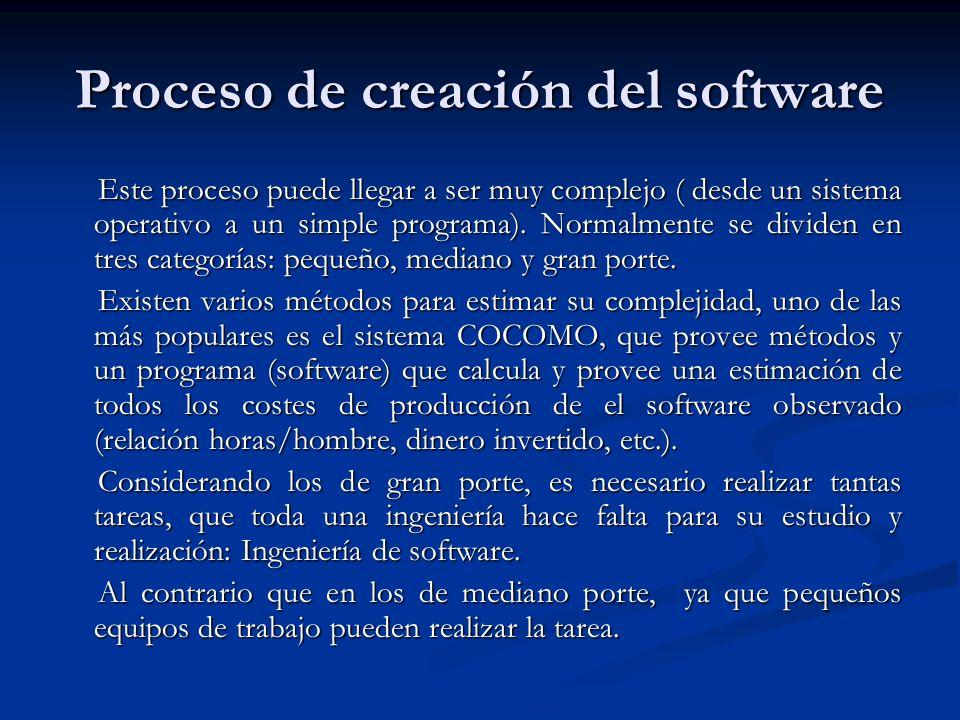 Los procesos de desarrollo de software siguen pautas generales, y deben ser aplicados en la creación del software de mediano y gran porte, sino lo más seguro es que el proyecto fracase.