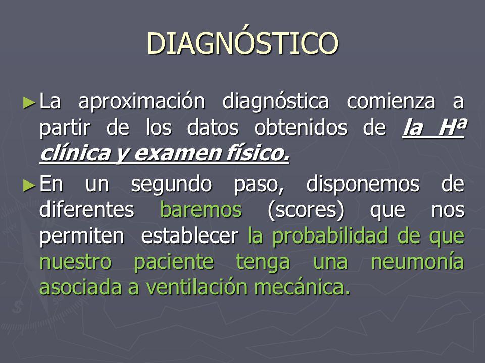 DIAGNÓSTICO La aproximación diagnóstica comienza a partir de los datos obtenidos de la Hª clínica y examen físico. La aproximación diagnóstica comienz