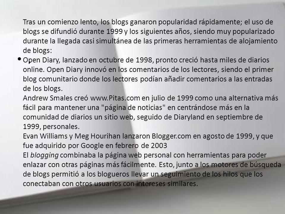 También había otras formas de diarios en línea. Un ejemplo era el diario del programador de juegos John Carmack. Los sitios web, como los sitios corpo