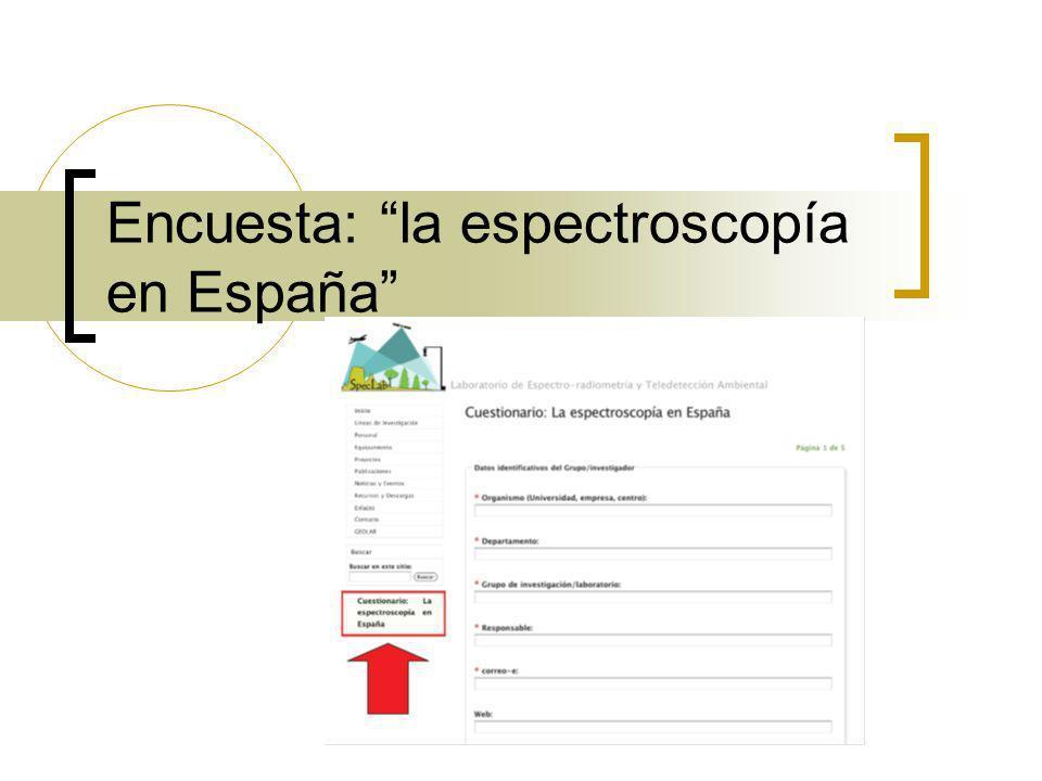 Encuesta: la espectroscopía en España