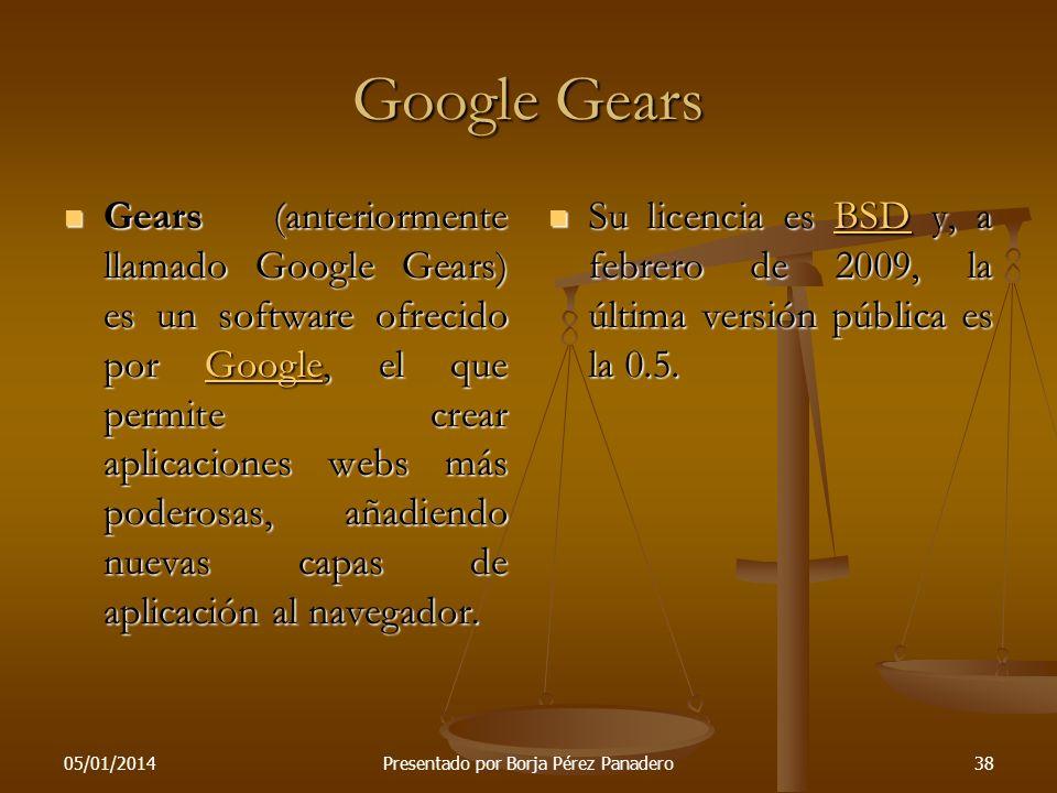 05/01/2014Presentado por Borja Pérez Panadero37 Demostración de iGoogle En esta diapositiva haremos una demo de iGoogle. Kike venga. En esta diapositi