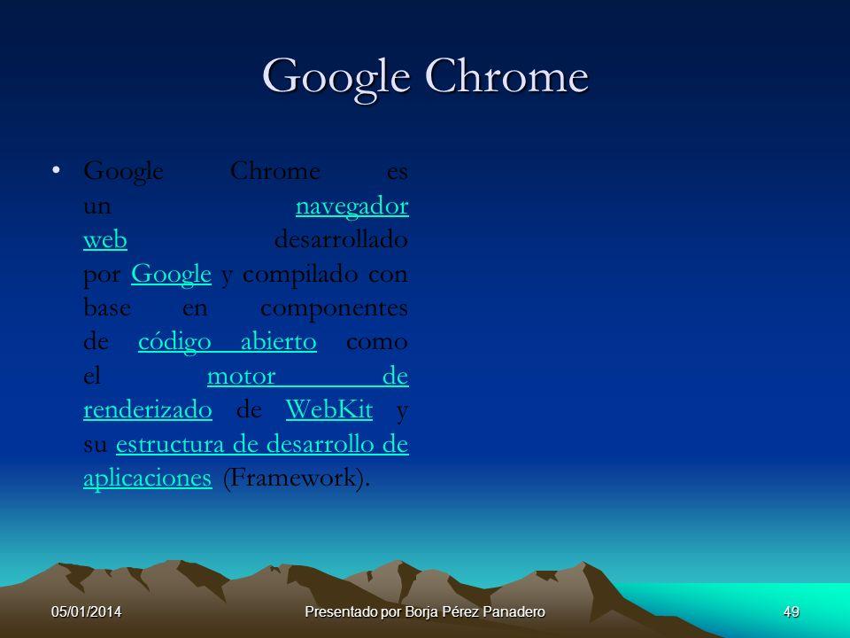 05/01/2014Presentado por Borja Pérez Panadero48 Google EARTH Google EARTH Google Earth es un programa informático similar a un Sistema de Información
