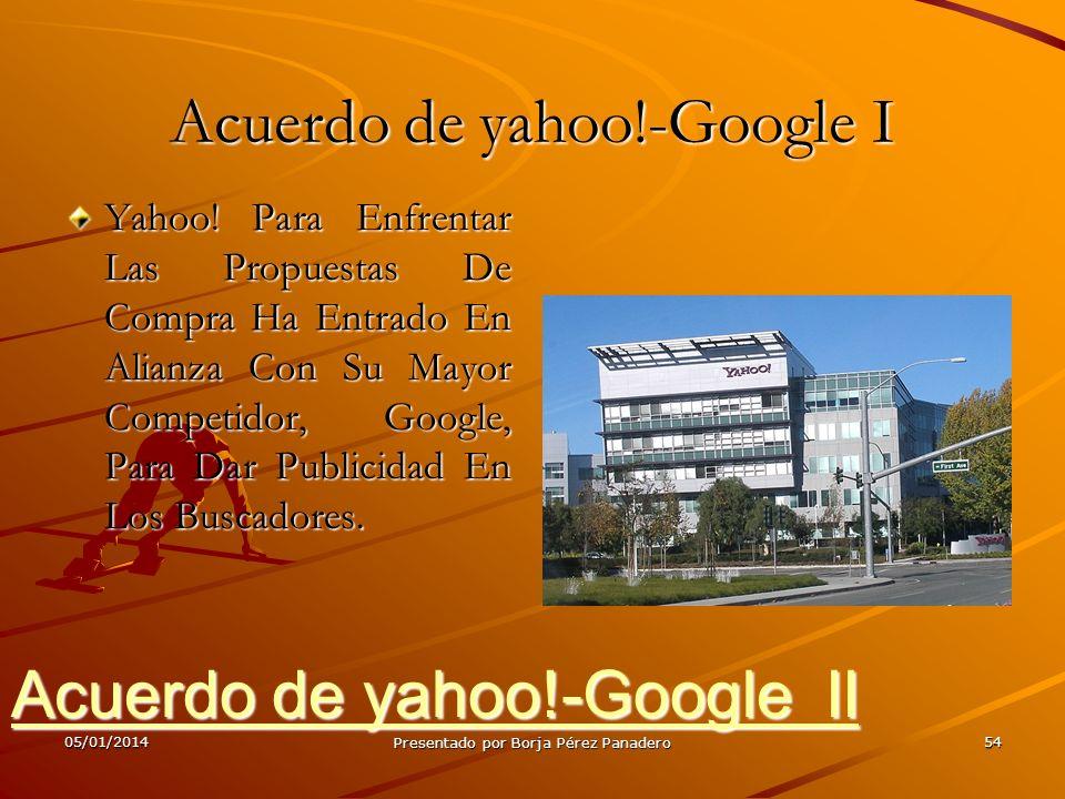 05/01/2014Presentado por Borja Pérez Panadero53 Google Chrome OS III Se anunció también la característica más importante: no tener aplicaciones instal