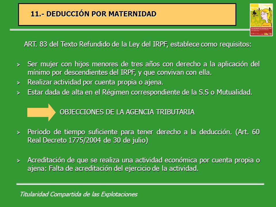 Titularidad Compartida de las Explotaciones Directiva 86/613 en aplicación del principio de igualdad de trato entre hombres y mujeres que ejercen una actividad autónoma, incluidas las actividades agrarias.